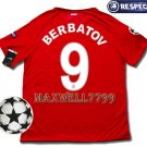 10-11 MANCHESTER UNITED HOME BERBATOV 9 UEFA 2 PATCHES SHIRT JERSEY