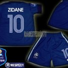 11-12 FRANCE HOME ZIDANE 10 EURO 2012 PATCH KITS KIDS SHORTS JERSEY # M