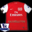 NEW 11-12 ARSENAL HOME BLANK PREMIER PATCH SOCCER SHIRT JERSEY