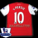 NEW 11-12 ARSENAL HOME v.PERSIE 10 PREMIER PATCH SOCCER SHIRT JERSEY