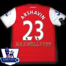 NEW 11-12 ARSENAL HOME ARSHAVIN 23 PREMIER PATCH SOCCER SHIRT JERSEY