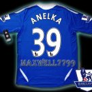 NEW 11-12 CHELSEA HOME ANELKA 39 PREMIER PATCH SOCCER SHIRT JERSEY