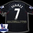 NEW 11-12 LIVERPOOL AWAY SUAREZ 7 PREMIER PATCH SOCCER SHIRT JERSEY