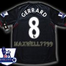NEW 11-12 LIVERPOOL AWAY GERRARD 8 PREMIER PATCH SOCCER SHIRT JERSEY