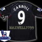 NEW 11-12 LIVERPOOL AWAY CARROLL 9 PREMIER PATCH SOCCER SHIRT JERSEY