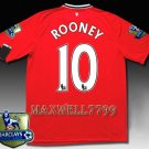 NEW 11-12 MANCHESTER UNITED HOME ROONEY 10 CHAMP PREMIER PATCH SOCCER SHIRT JERSEY