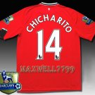 NEW 11-12 MANCHESTER UNITED HOME CHICHARITO 14 CHAMP PREMIER PATCH SOCCER SHIRT JERSEY