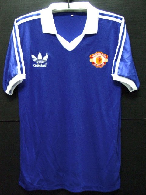 RETRO 1982 MANCHESTER UNITED AWAY RARE SOCCER SHIRT JERSEY # L