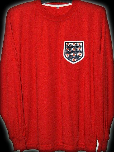 RETRO 1966 ENGLAND AWAY WORLD CUP CHAMPIONS RARE SOCCER LS SHIRT JERSEY