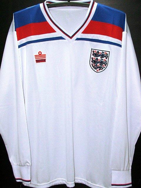 RETRO 1982 ENGLAND AWAY WORLD CUP RARE SOCCER LS SHIRT JERSEY # XL