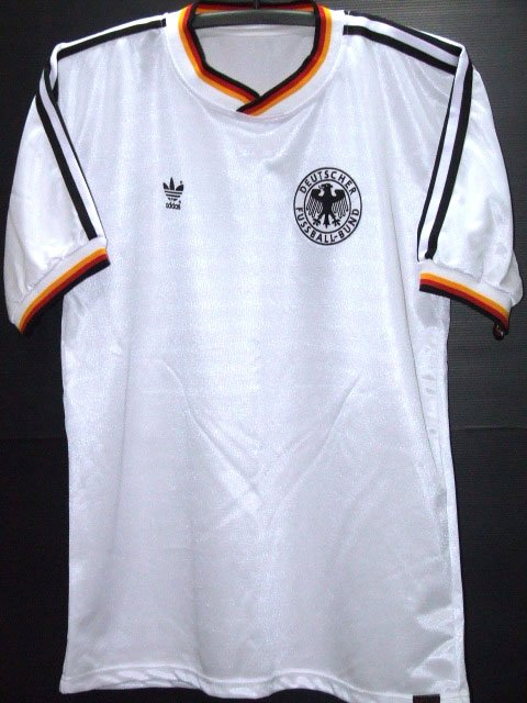 RETRO 1986 GERMANY HOME WORLD CUP NO. 11 RARE SOCCER SHIRT JERSEY # L