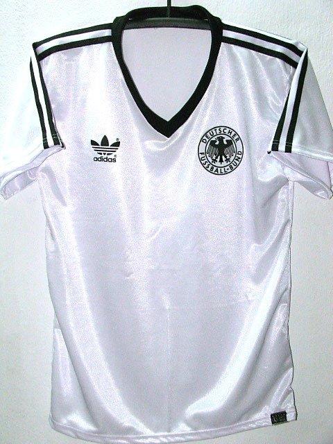 RETRO 1985 GERMANY HOME NO.4 RARE SOCCER SHIRT JERSEY # XL