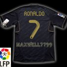NEW 11-12 REAL MADRID AWAY RONALDO 7 LFP PATCH SOCCER SHIRT JERSEY