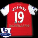 NEW 11-12 ARSENAL HOME WILSHERE 19 PREMIER PATCH SOCCER SHIRT JERSEY