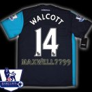 NEW 11-12 ARSENAL 3RD WALCOTT 14 PREMIER PATCH SOCCER SHIRT JERSEY