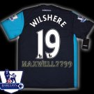 NEW 11-12 ARSENAL 3RD WILSHERE 19 PREMIER PATCH SOCCER SHIRT JERSEY