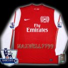 NEW 11-12 ARSENAL HOME BLANK PREMIER PATCH SOCCER LS SHIRT JERSEY