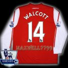 NEW 11-12 ARSENAL HOME WALCOTT 14 PREMIER PATCH SOCCER LS SHIRT JERSEY