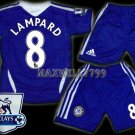 11-12 CHELSEA HOME LAMPARD 8 PREMIER PATCH KITS KIDS SHORTS JERSEY # M,XL