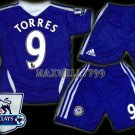 11-12 CHELSEA HOME TORRES 9 PREMIER PATCH KITS KIDS SHORTS JERSEY # M,XL