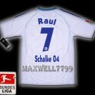 NEW 11-12 SCHALKE 04 AWAY RAUL 7 BUNDES LIGA PATCH SOCCER SHIRT JERSEY