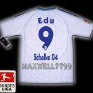 NEW 11-12 SCHALKE 04 AWAY EDU 9 BUNDES LIGA PATCH SOCCER SHIRT JERSEY