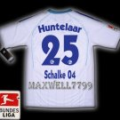 NEW 11-12 SCHALKE 04 AWAY HUNTELAAR 25 BUNDES LIGA PATCH SOCCER SHIRT JERSEY