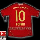 NEW 11-12 BAYERN MUNICH HOME ROBBEN 10 BUNDES LIGA PATCH SOCCER SHIRT JERSEY