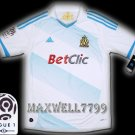 NEW 11-12 OLYMPIQUE MARSEILLE HOME BLANK LIGUE 1 PATCH SOCCER SHIRT JERSEY