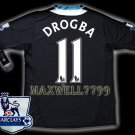 NEW 11-12 CHELSEA AWAY DROGBA 11 PREMIER PATCH SOCCER SHIRT JERSEY