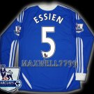 NEW 11-12 CHELSEA HOME ESSIEN 5 PREMIER PATCH SOCCER SHIRT LS JERSEY