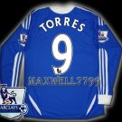 NEW 11-12 CHELSEA HOME TORRES 9 PREMIER PATCH SOCCER SHIRT LS JERSEY