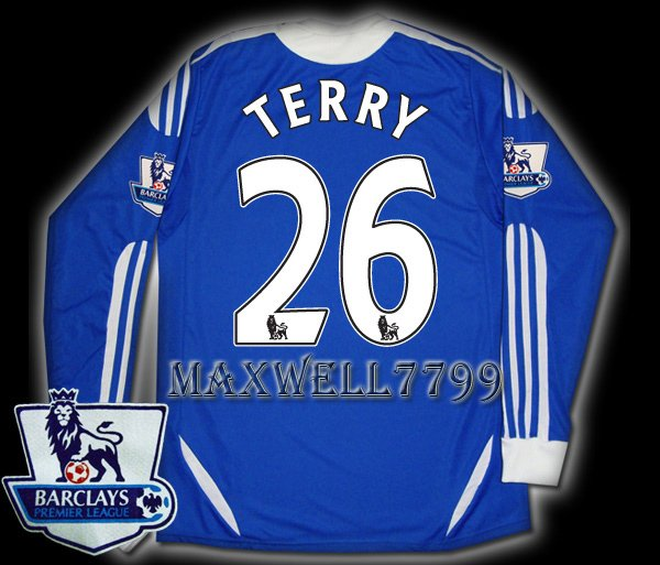 NEW 11-12 CHELSEA HOME TERRY 26 PREMIER PATCH SOCCER SHIRT LS JERSEY