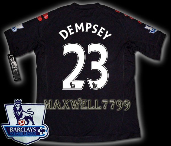 NEW 11-12 FULHAM AWAY DEMPSEY 23 PREMIER PATCH SOCCER SHIRT JERSEY