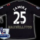 NEW 11-12 FULHAM AWAY ZAMORA 25 PREMIER PATCH SOCCER SHIRT JERSEY