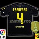 NEW 11-12 BARCELONA AWAY FABREGAS 4 LFP+TV3 PATCH SOCCER SHIRT JERSEY
