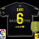 NEW 11-12 BARCELONA AWAY XAVI 6 LFP+TV3 PATCH SOCCER SHIRT JERSEY