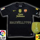 NEW 11-12 BARCELONA AWAY BLANK LFP+TV3 PATCH SOCCER SHIRT JERSEY