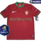 FINAL EURO 2012 PORTUGAL HOME BLANK EURO2012 RESPECT PATCHES SHIRT JERSEY