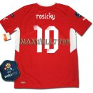 FINAL EURO 2012 CZECH HOME ROSICKY 10 EURO2012 RESPECT PATCHES SHIRT JERSEY