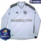 FINAL EURO 2012 GERMANY HOME BLANK EURO2012 RESPECT PATCHES LS SHIRT JERSEY