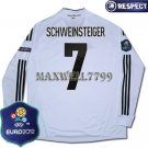 FINAL EURO 2012 GERMANY HOME SCHWEINSTEIGER 7 EURO2012 RESPECT PATCHES LS SHIRT JERSEY