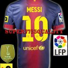 NEW 12-13 BARCELONA HOME MESSI 10 LFP+TV3 PATCH SOCCER SHIRT JERSEY