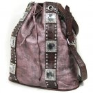 Ladies Designer Inspired Rhinestone Hobo Handbag