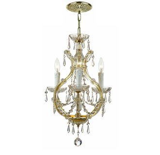 Crystorama Crystal Maria Theresa Chandelier in Gold NEW