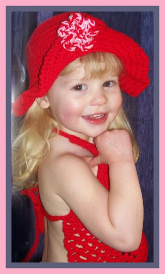 Red Halter/Hat Set