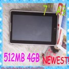 """SPECIAL OFFER!7"""" Amlogic A9 Bluetooth 512MB 4GB Andriod2.2 Laptop"""