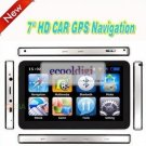 "7"" inch Car GPS navigation,bluetooth AV-IN multi languages window ce free world maps+16GB  TF card"