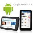 7inch tablet pc android 2.3 512M/4GB Capacitive Touch Screen camera