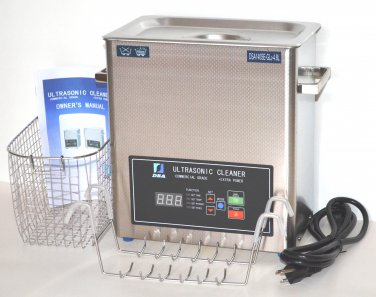 DSA140SE-GL2 4.8L 440W DUAL 20KHz or 40KHz HEATED INDUSTRIAL ULTRASONIC PARTS CLEANER WASHER